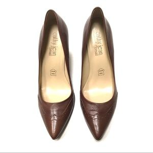Cathy Jean Brazil genuine leather oxford heels 8